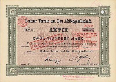 Berliner Terrain und Bau AG 1908   Berlin