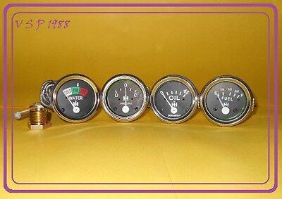 Ih Farmall 460 560 Gastempoil Pressureampere Fuel Gauge