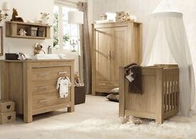 Babystyle Bordeaux Nursery Furniture Set with Cot Bed, Wardrobe and Chest Dresser