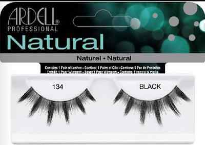 (LOT OF 72) Ardell Natural Lashes #134 False Fake Eyelashes Fashion Black