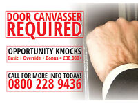 Door Canvasser Required - Immediate Start With Weekly Pay!