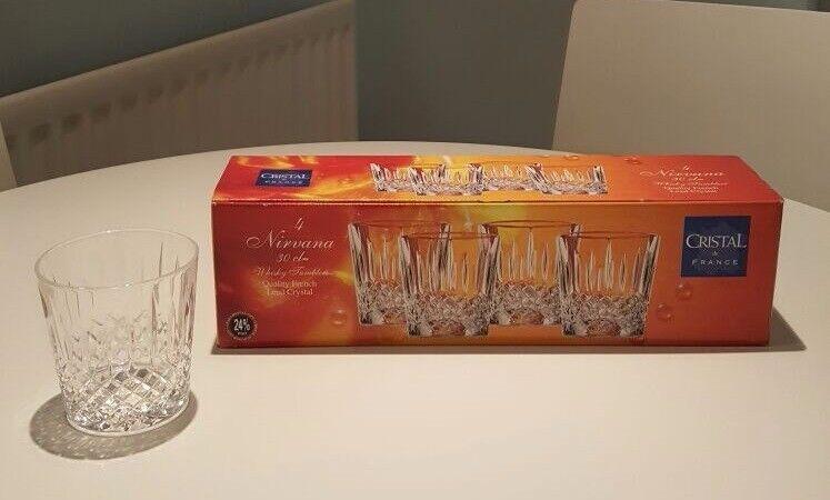 4 x Nirvana CRISTAL de FRANCE - Nirvana - Quality French Lead Crystal - 30cl Whisky Tumblers