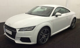 White AUDI TT COUPE 1.8 2.0 TDI Diesel ULTRA S LINE FROM £98 PER WEEK!