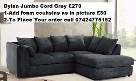 BRAND NEW**Dylan Jumbo Cord**Corner or 3+2**Available in different Colour**Made In UK**