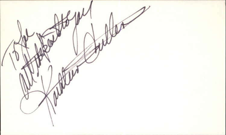 "KATHLEEN CULLEN GUIDING LIGHT Signed 3""x5"" Index Card"