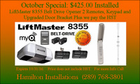 Liftmaster 1/2 hp MYQ Belt Drive $425.00  Only 1 Units left