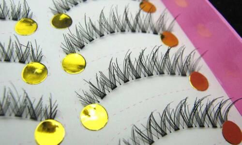 LASGOOS 10 Pairs/Lot False Eyelashes Natural Tapered Eye Ext