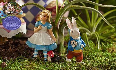 Mini World Alice in Wonderland Figurines Alice Rabbit Fantasy Miniatures Resin N
