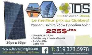 PANNEAU SOLAIRE 265W POUR 225$ + TAXES