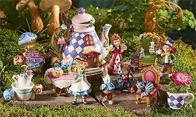 FULL SET ALICE in Wonderland Miniature Figurines Alice Rabbit Fantasy Mini NEW