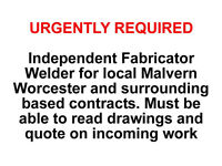 We have an overspill of Metal Fabrication Work - Urgently seeking Independent Fabricator Welder