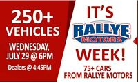 Rallye Motors Monthly Public  Auto Auction Wed 6pm