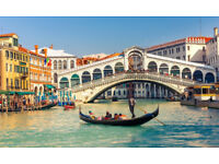 1 x Roundtrip to Venice for one - £100