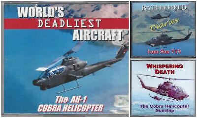 COBRA HELICOPTER GUNSHIP - 3 OUTSTANDING DVDS ON THE DEADLY AH-1 COBRA ()
