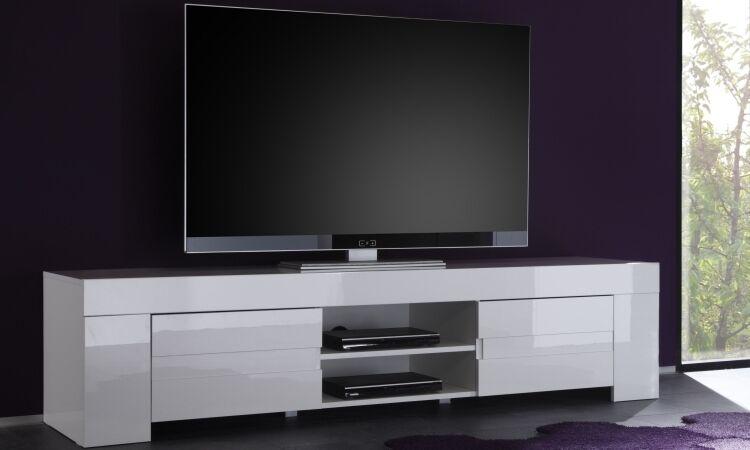 Mobile Porta Tv Basso Moderno.Mobile Porta Tv Basso Laccato Bianco Moderno Salotto