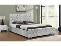 Sterling Crushed Velvet Bed