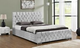 Sterling Crushed Velvet Bed