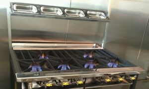 6 BURNER COMMERCIAL COOKER RESTAURANTS AND TAKEAWAYS NEW DESIGN CE REGISTERED