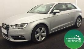 FROM £220.89 PER MONTH SILVER 2013 AUDI A3 2.0 TDI SPORT 3 DOOR SILVER MANUAL