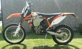 KTM EXC-F 12 2013 PLATE ROAD LEGAL 1777 MILES