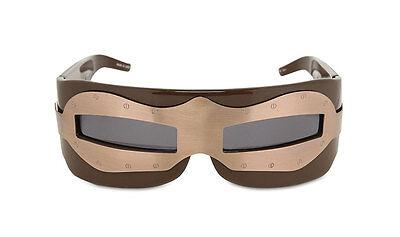 defects KOKON TO ZAI KTZ SUIT OF ARMOUR Brown Bronze Wrap Sunglasses KTZ2C2