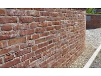 "NEW 2.5"" (65MM) HANDMADE RECLAMATION GEORGIAN BRICKS @ £0.93 EACH."