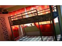 Single metal bunk short size
