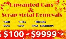 UNWANTED CARS & SCRAP METAL REMOVALS ( CASH PAID ) FREE PICK UP Townsville Townsville City Preview