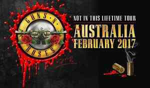 2 x Guns N' Roses tickets Melbourne Brunswick East Moreland Area Preview
