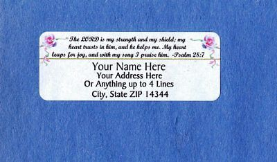 - Beautiful Bible Verse Design9-Personalized Address Labels 50PCS FREE US Shipping
