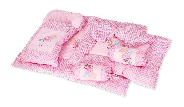Luxury Cute Floral 7 pieces Jumbo Bedding Set/crib set For B