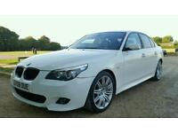 2008 Bmw 525D Msport Alpine White,Brown Heated Leathers,19 Spyders,L Miles 530D