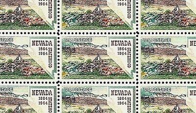 1964 - NEVADA STATEHOOD - #1248 Full Mint -MNH- Sheet of 50 Postage Stamps