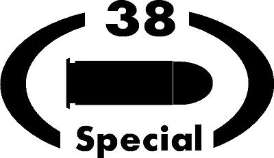 - 38 Special gun pistol Ammunition Bullet exterior oval decal sticker car or wall