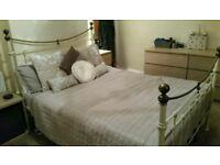 Vintage standard size double bed