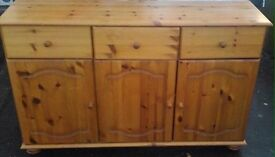 Pine sideboard free delivery most areas