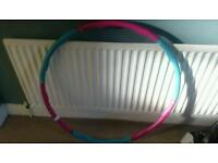 Exercise weighted hula hoop