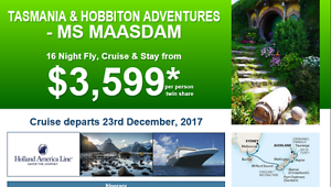 TASMANIA AND NEW ZEALAND+ HOBITTON CRUISE DEAL Adelaide CBD Adelaide City Preview