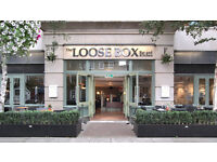 Full and Part Time Waiting Staff - The Loose Box Westminster