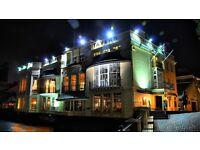 Historic riverside venue looking for bar, restaurant & event staff