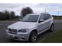 "BMW X5 3.0TD AUTO,2009,X DRIVE,20""ALLOYS,BLACK LEATHER,PEARL SILVER,F.S.H"