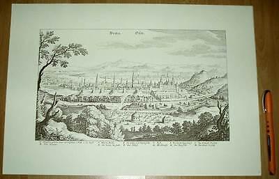 Buda Budapest alte Ansicht Merian Druck Stich 1650 (schw)