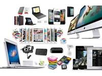 I buy laptops,tv's, games consoles and all kind of electronics