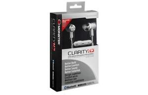 Brand New Monster CLARITY HD HIGH-PERFORMANCE WIRELESS EARBUDS