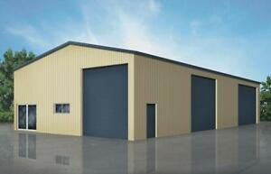 Steel Straight Wall Buildings, Garages, Workshops