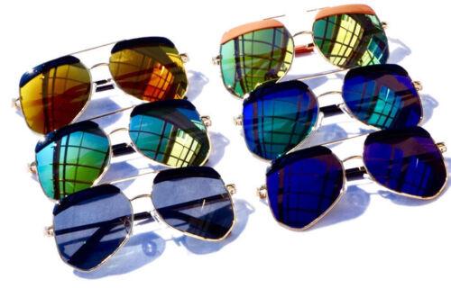 Kids Children Polarized Aviator Reflective Sunglasses Shades W/ Case AGES 3 - 10