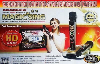 EnterTech Magic Sing Karaoke ET23KH 2 Wireless mic 5,145 TAGALOG ENGLISH SONGS