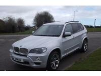 "BMW X5 3.0TD AUTO,2009,X DRIVE,20""ALLOYS,BLACK LEATHER,PEARL SILVER,F.S.H"