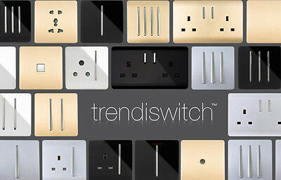 Trendi switch modern glossy light switches and sockets ebay - Modern switches and sockets ...