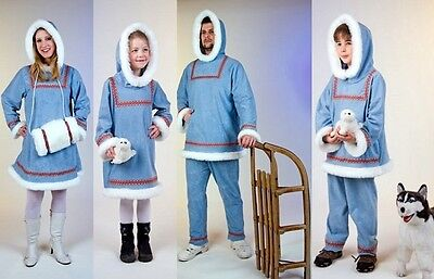 Kostüm Eskimo-Familie Inuit Fasching Karneval Damen Herren Kinder Polar Arktis